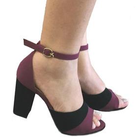 b6609560f Sandalia Salto Marsala - Sapatos no Mercado Livre Brasil