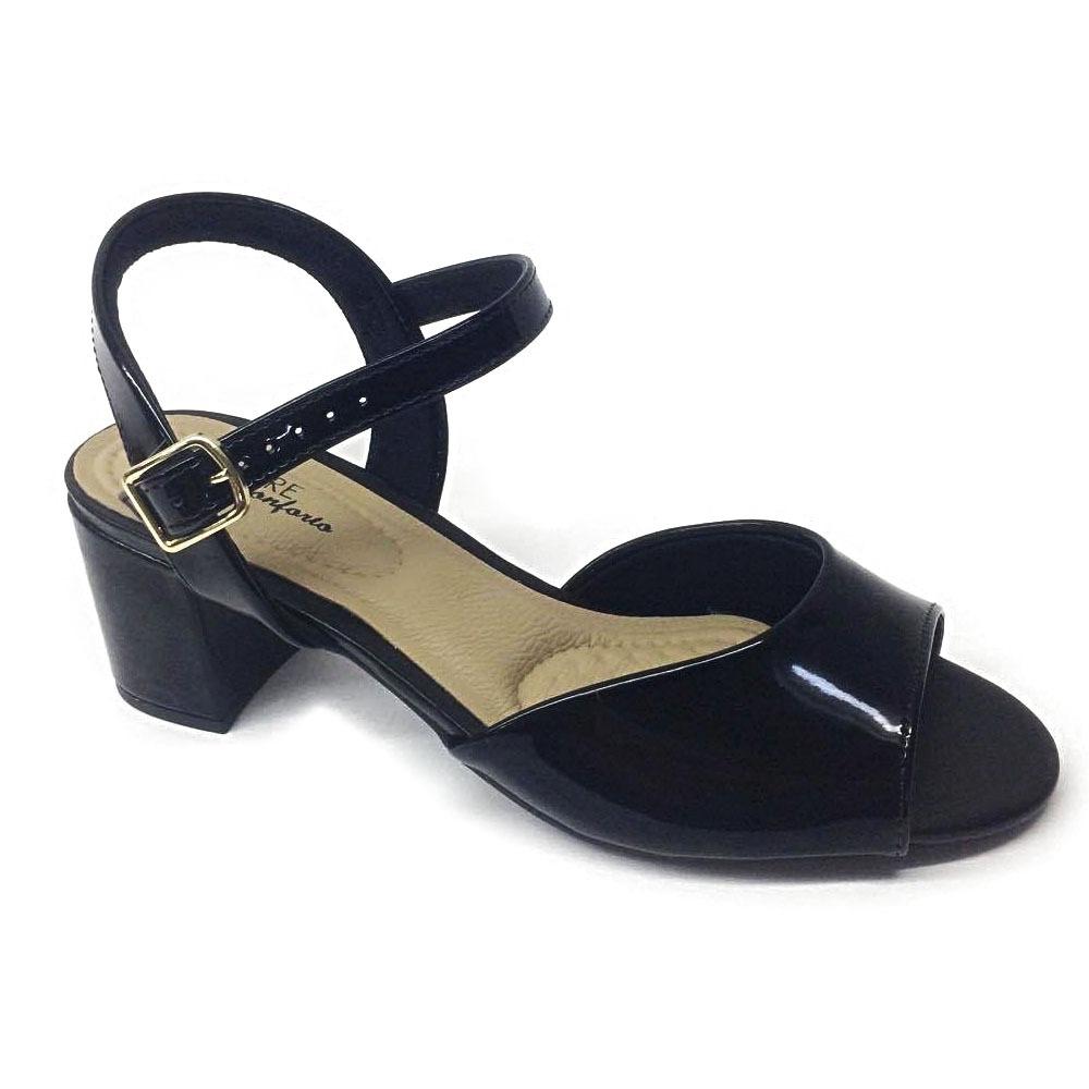 8c116283b6 sandália feminina salto grosso verniz modare. Carregando zoom.