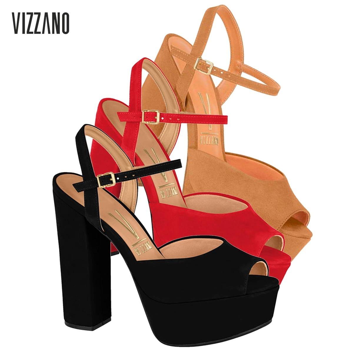 df1c3cffbb sandália feminina salto grosso verão meia pata vizzano 6282. Carregando  zoom.