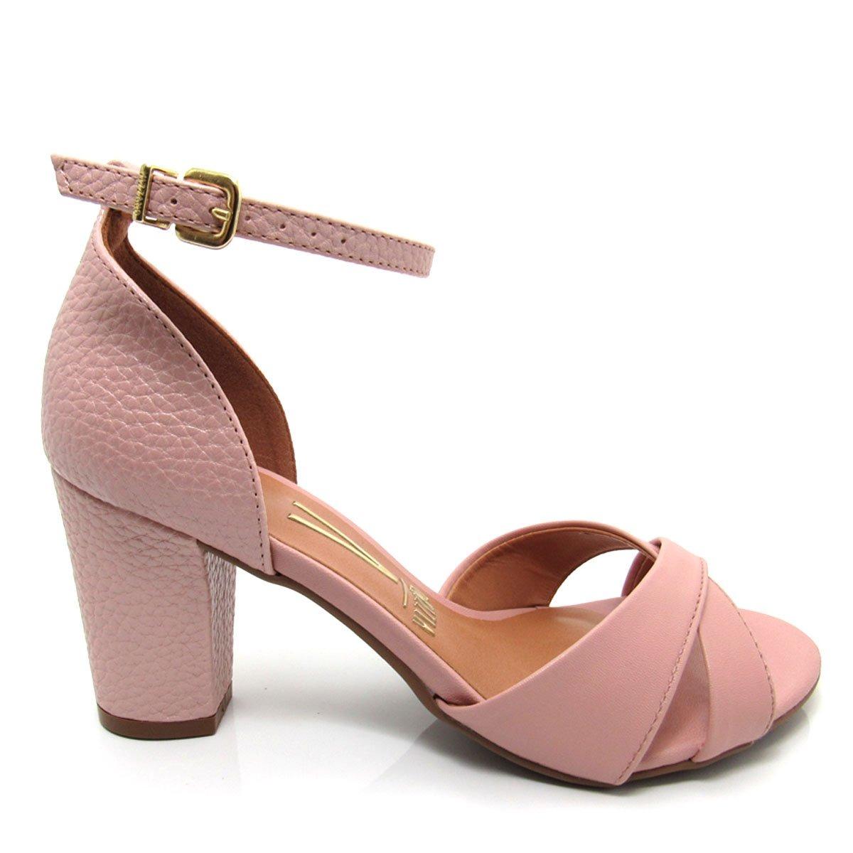 c46fe3f3f sandália feminina salto grosso vizzano 6262250 rosa. Carregando zoom.