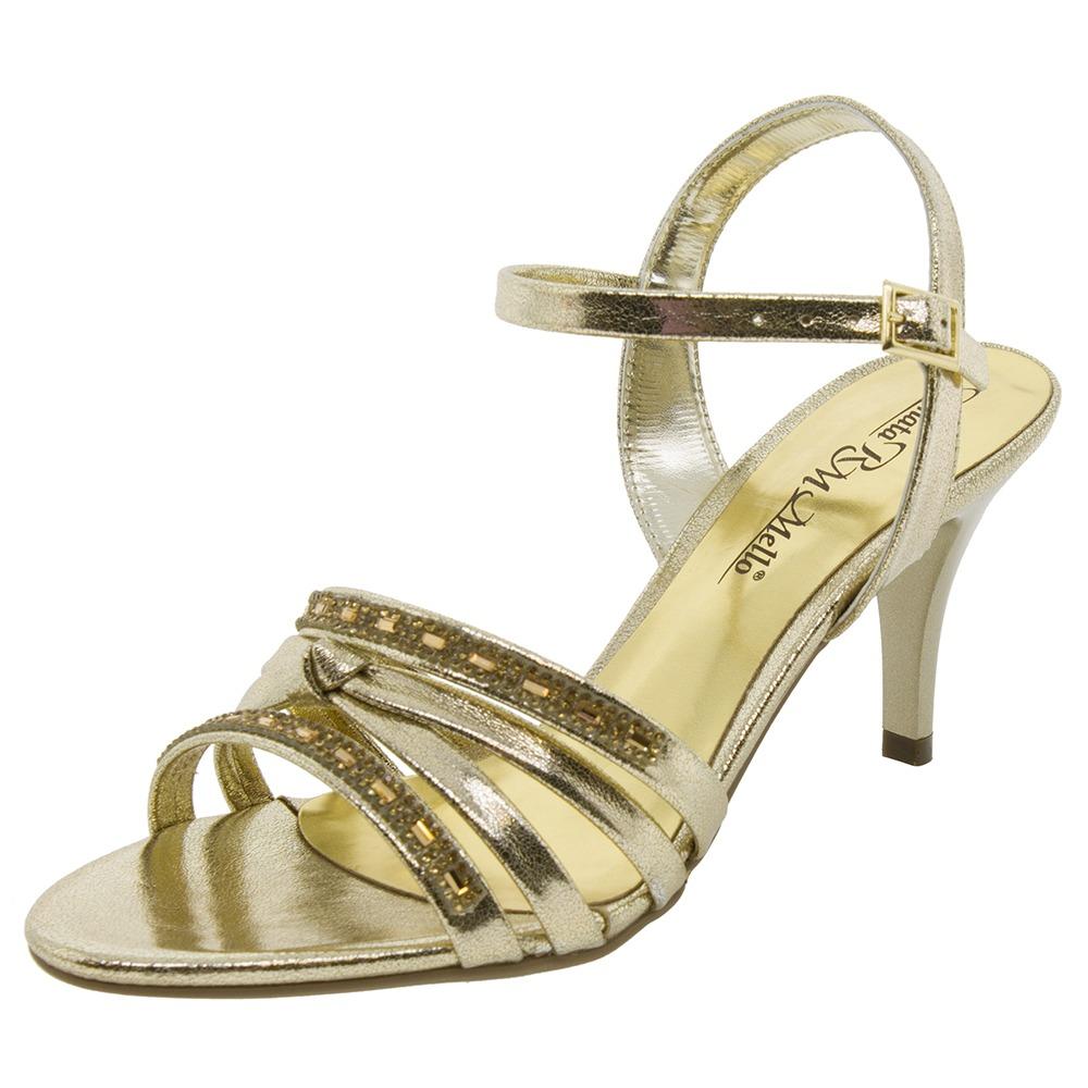 0d811c546 sandália feminina salto médio dourada renata mello - 6193002. Carregando  zoom.