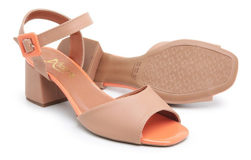 sandália feminina salto médio mulher elegante social confort