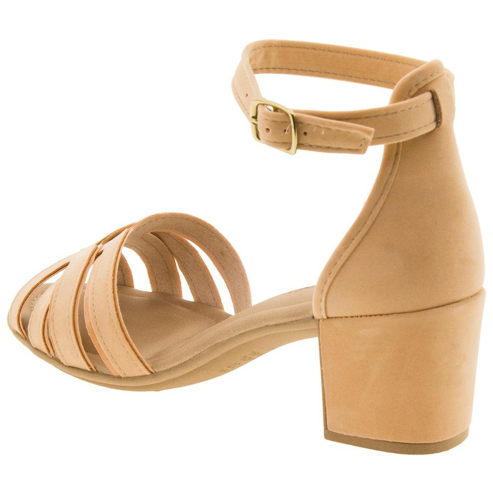 ea2413bed8 sandália feminina salto médio nude mississipi - x7185. 5 Fotos