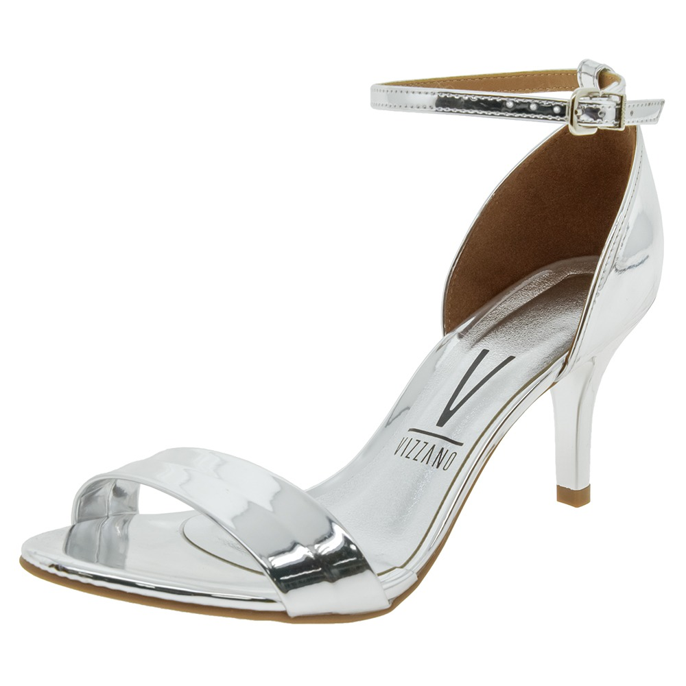 447cb7a34 sandália feminina salto médio prata vizzano - 6276316. Carregando zoom.