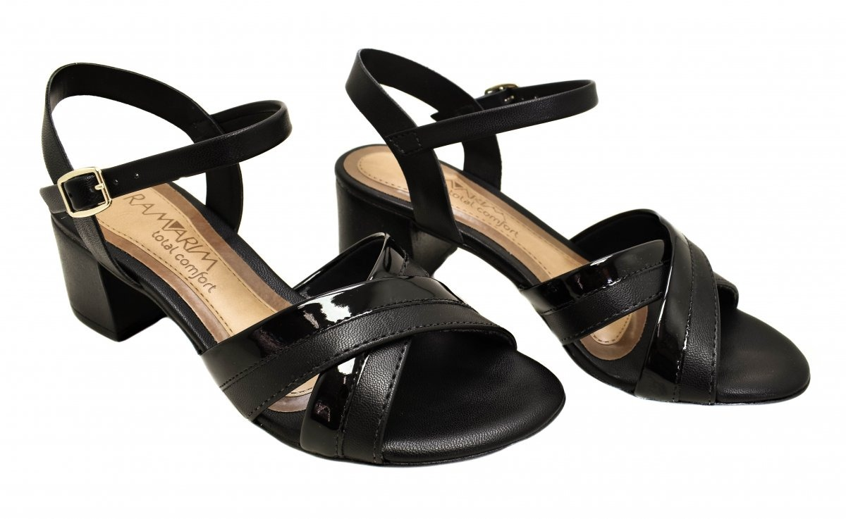 8fb5efd680 sandália feminina salto médio ramarim 186204. Carregando zoom.