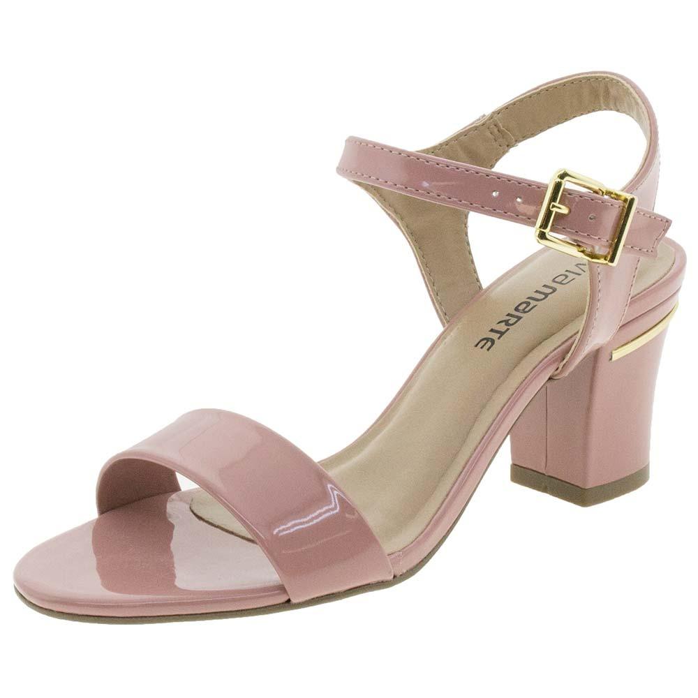 6ae619e559 sandália feminina salto médio rosa via marte - 1610807. Carregando zoom.