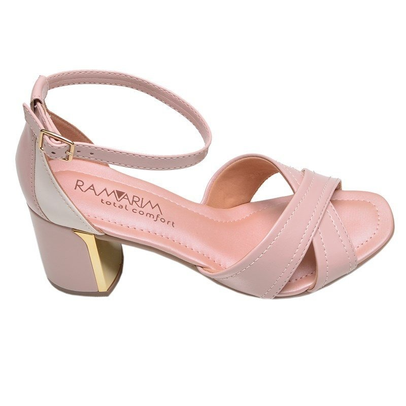 304d1120a sandália feminina salto médio total comfort plus ramarim ros. Carregando  zoom.