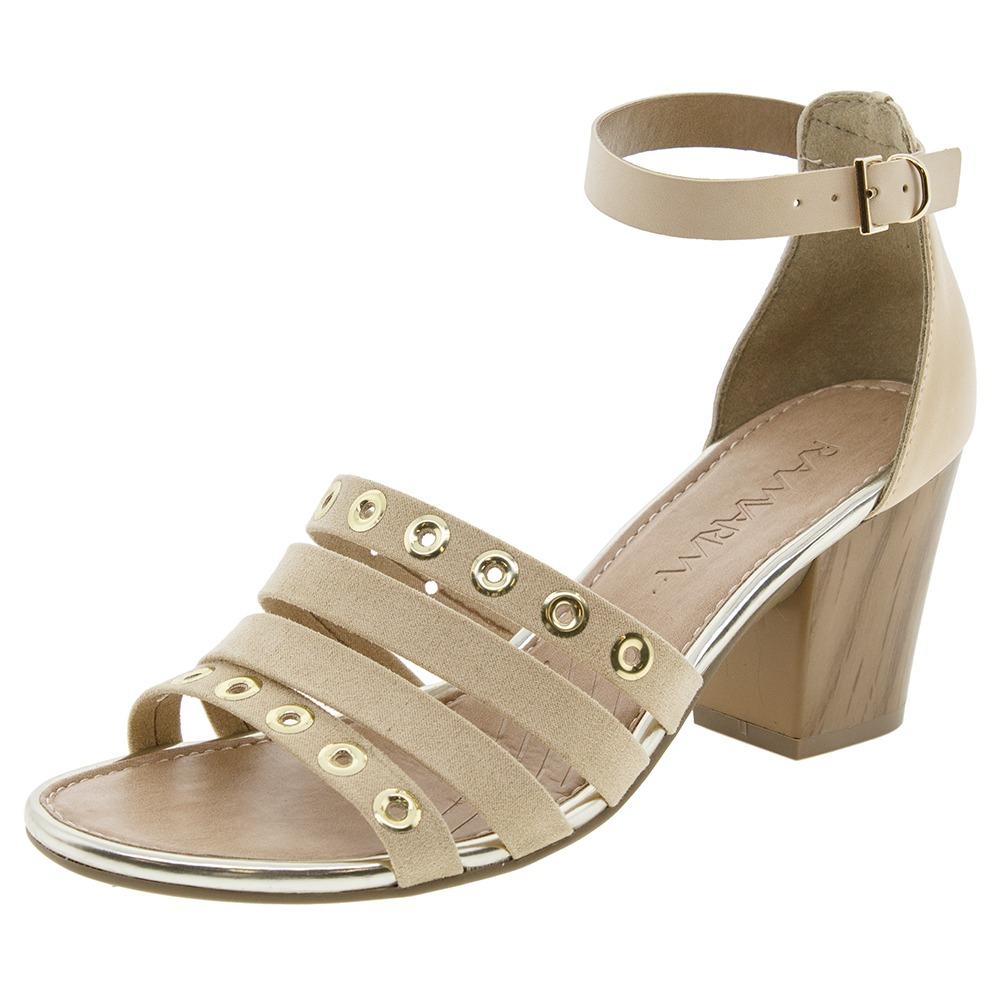 bdbdf3100f sandália feminina salto médio vanilla ramarim - 1634204. Carregando zoom.