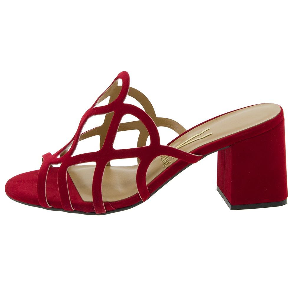 3b7a6dbc3 sandália feminina salto médio vermelho vizzano - 6364108. Carregando zoom.
