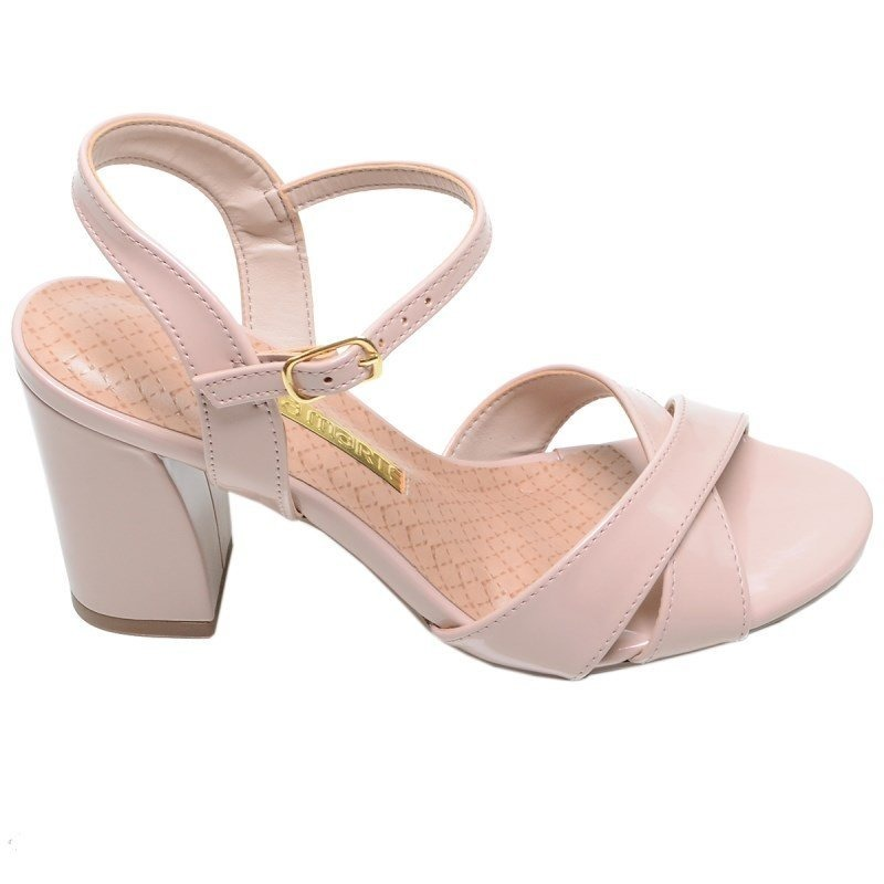 3938cc4cc9 sandália feminina salto médio via marte creme. Carregando zoom.