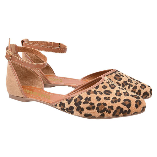 sandalia feminina sapatilha onça fechada salome eleganteria