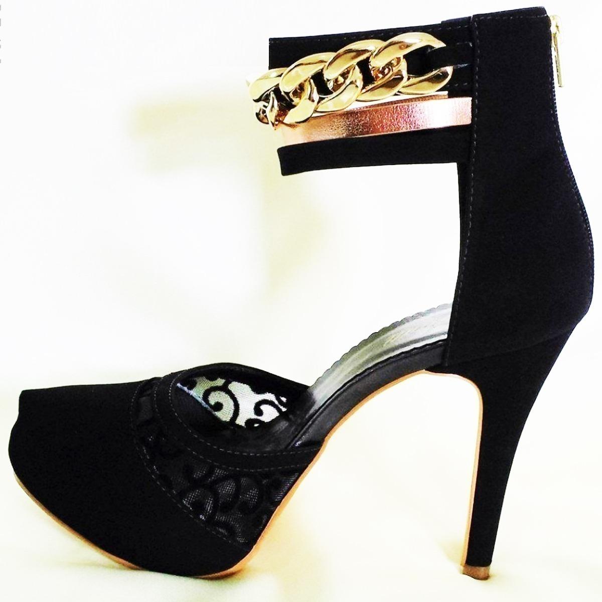 d3e7f78b200 sandália feminina sapato 46 scarpin salto alto preto salto. Carregando zoom.