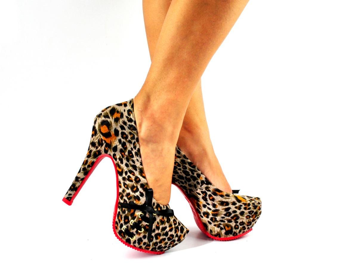 4251db0786 sandália feminina sapato scarpin peeptoe meia pata onça laço. Carregando  zoom.