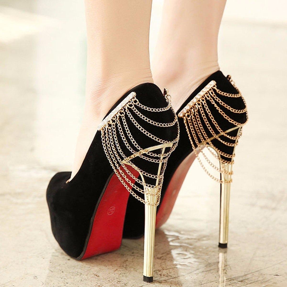 731a12c3c7 sandália feminina sapato scarpin salto alto preto fino luxo. Carregando zoom .