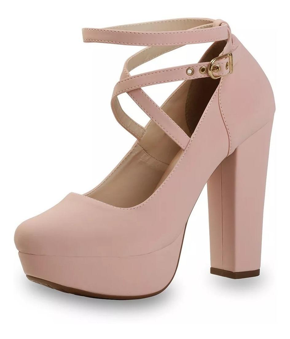 d6c542333 sandália feminina scarpin boneca meia pata salto alto grosso. Carregando  zoom.