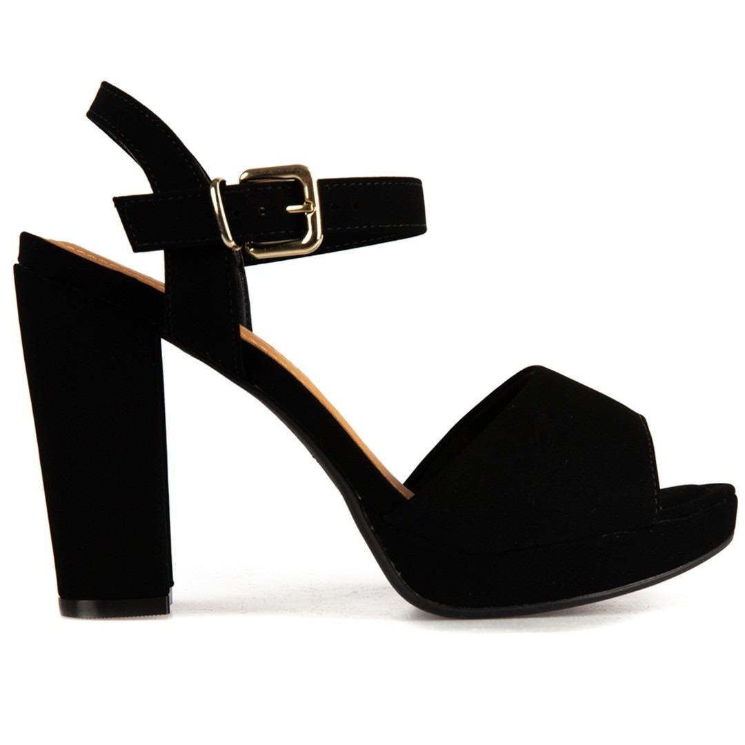 db2978a6af sandália feminina social bebecê meia pata nobuck -salto 10cm. Carregando  zoom.