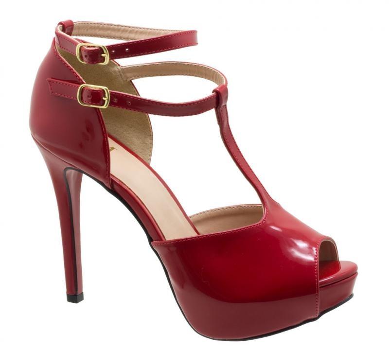 4408cd2d46 sandália feminina tamanho grande meia pata dm extra verniz. Carregando zoom.