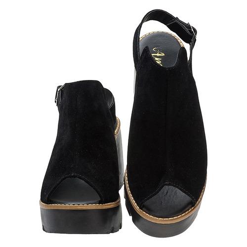 sandalia feminina tratorada plataforma salto grosso | s01.st
