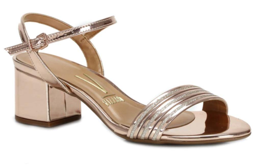 75f60b540 sandália feminina verniz salto baixo vizzano dourada 6291144. Carregando  zoom.