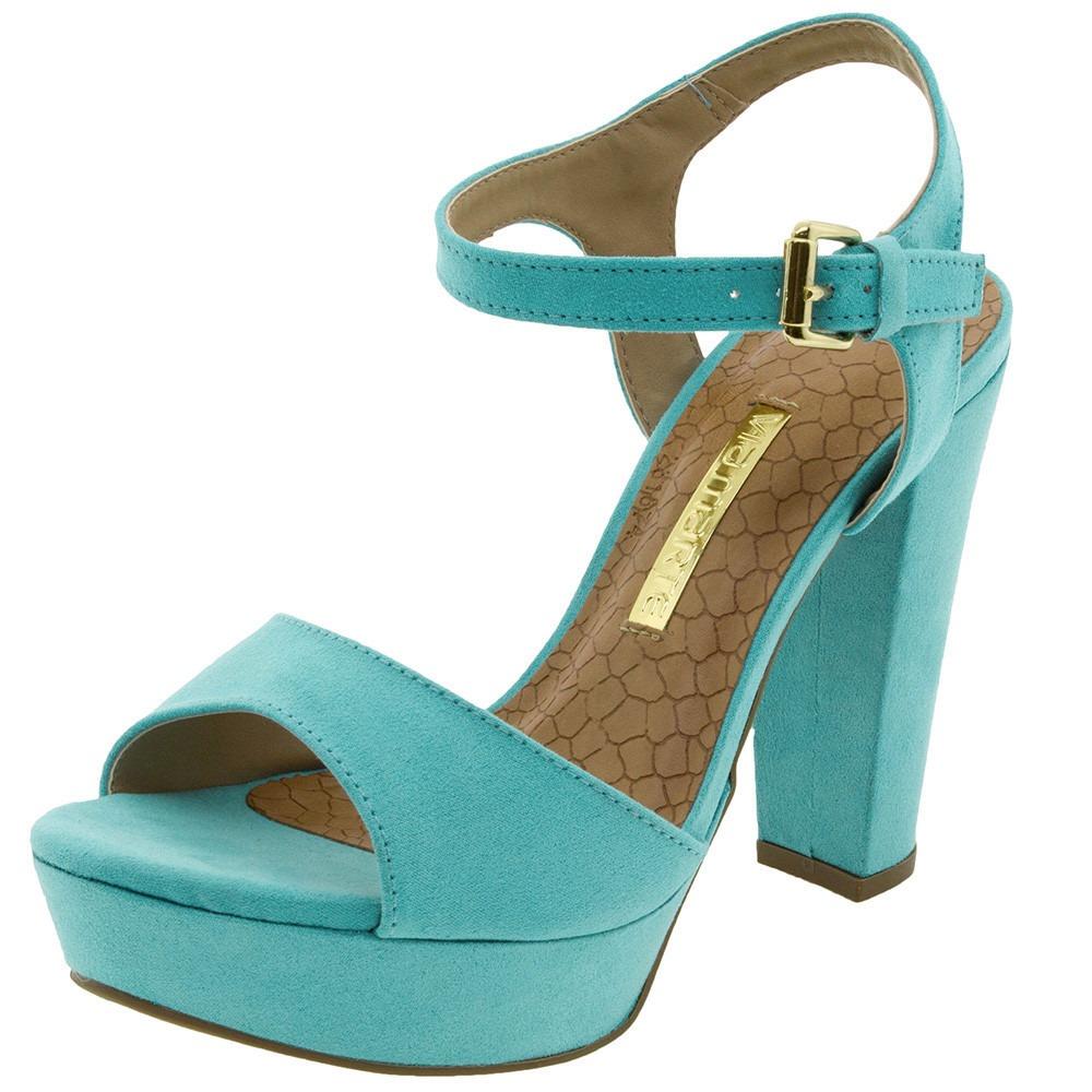 dfd66462b sandalia feminina via marte azul caribe meia pata salto 10cm. Carregando  zoom.