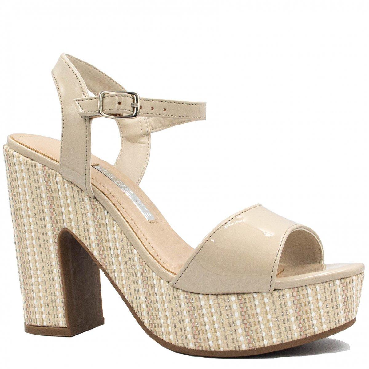 4c291b211a sandália feminina via marte meia pata salto bloco 18-11803. Carregando zoom.