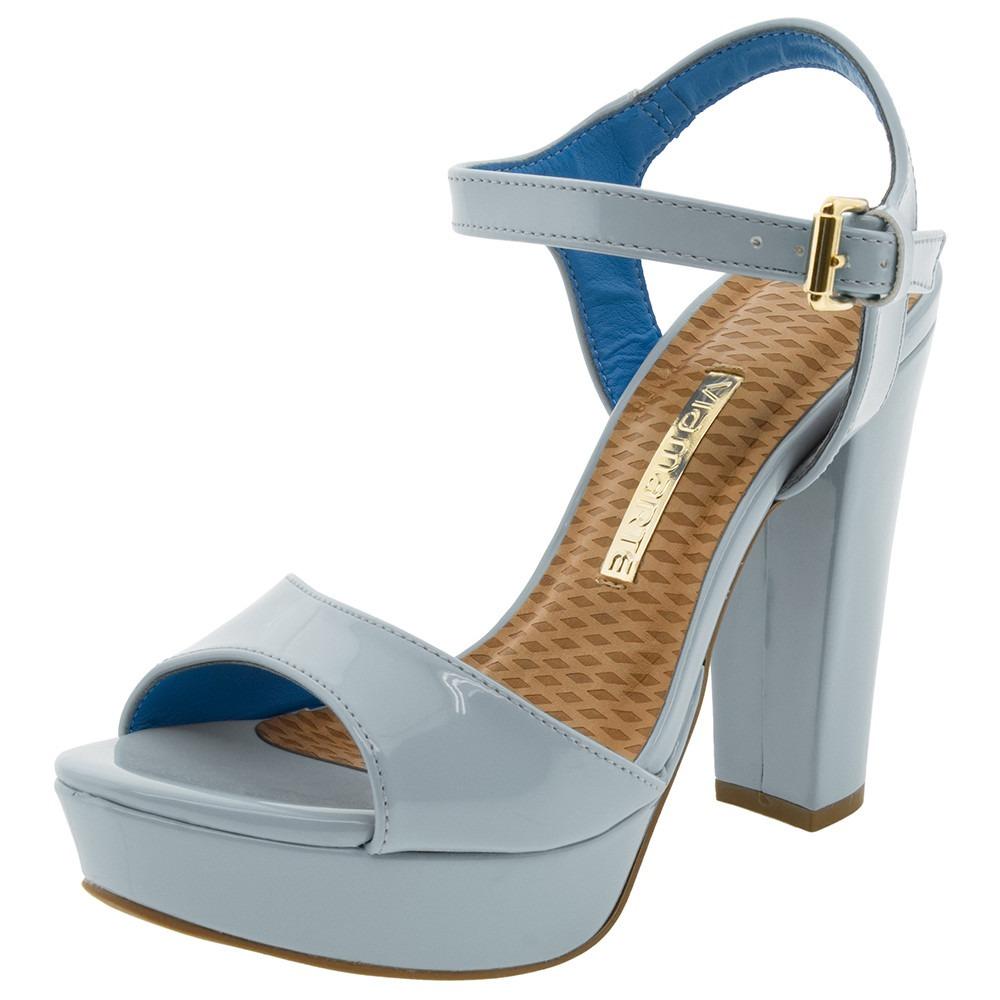 d204b101b6 sandalia feminina via marte verniz azul claro meia pata. Carregando zoom.