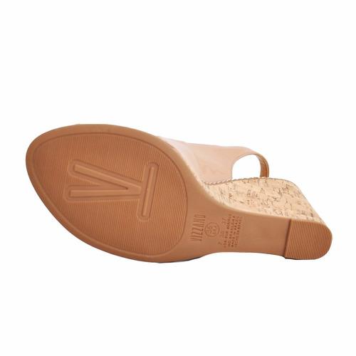 sandália feminina vizzano 6354101 nude verniz carnaval