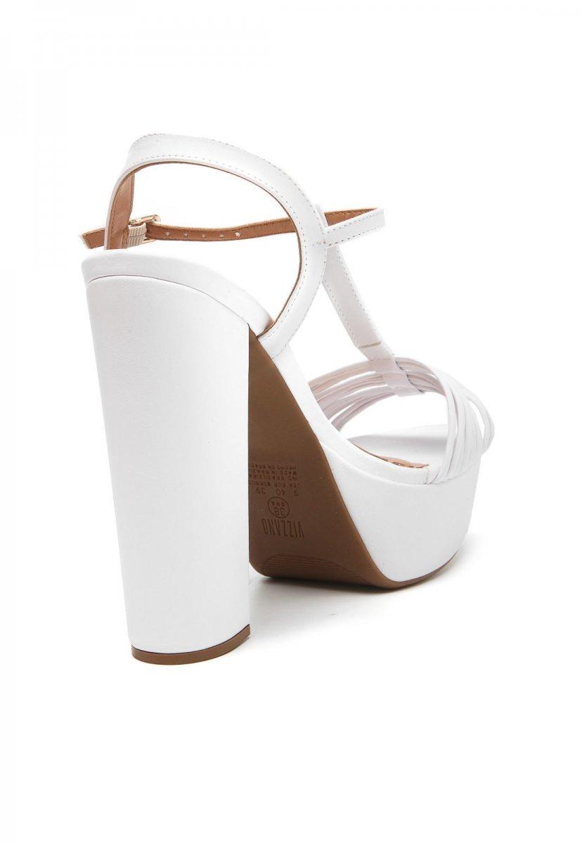 e8995f200b sandália feminina vizzano branca salto alto tiras 6282141. Carregando zoom.