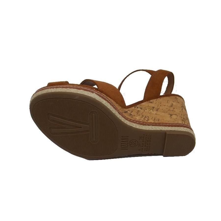 00a33ac5e8 sandália feminina vizzano camurça flex plataforma. Carregando zoom.