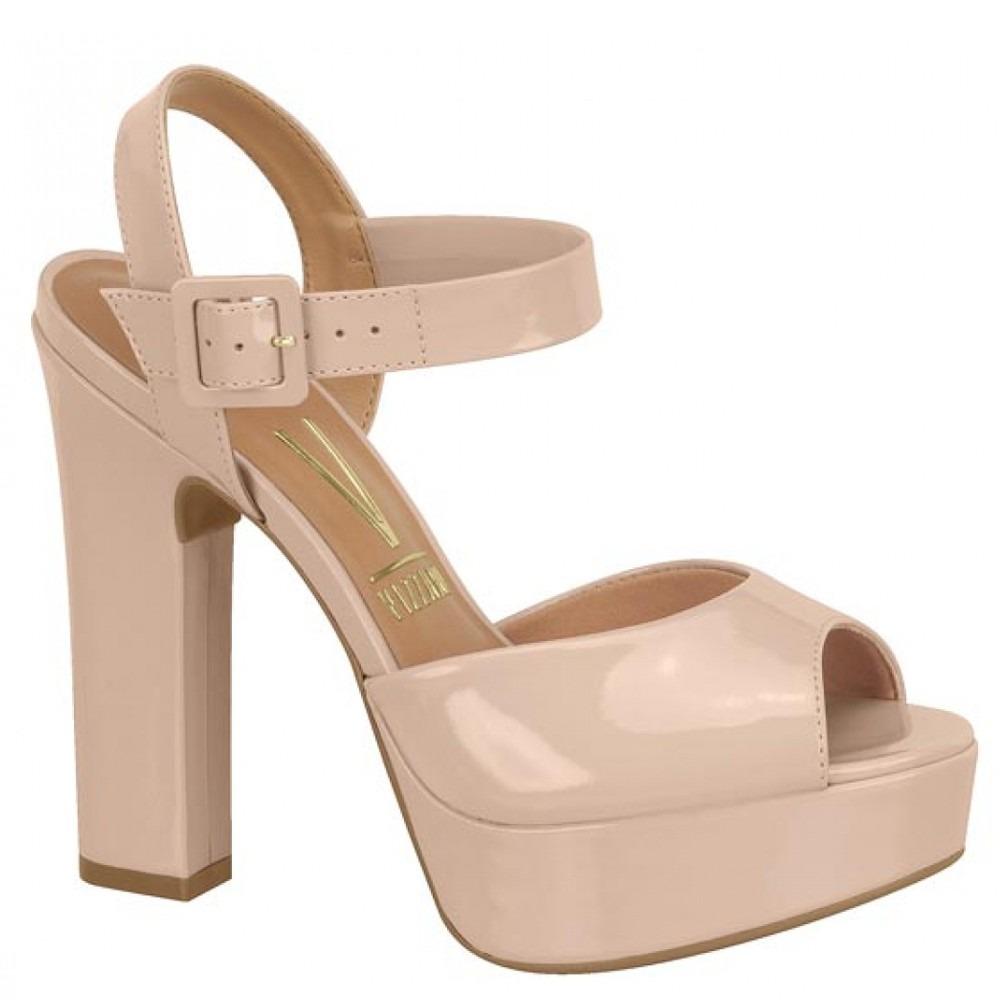 7da4ec3e1 sandália feminina vizzano meia pata bege - 6305-100. Carregando zoom.