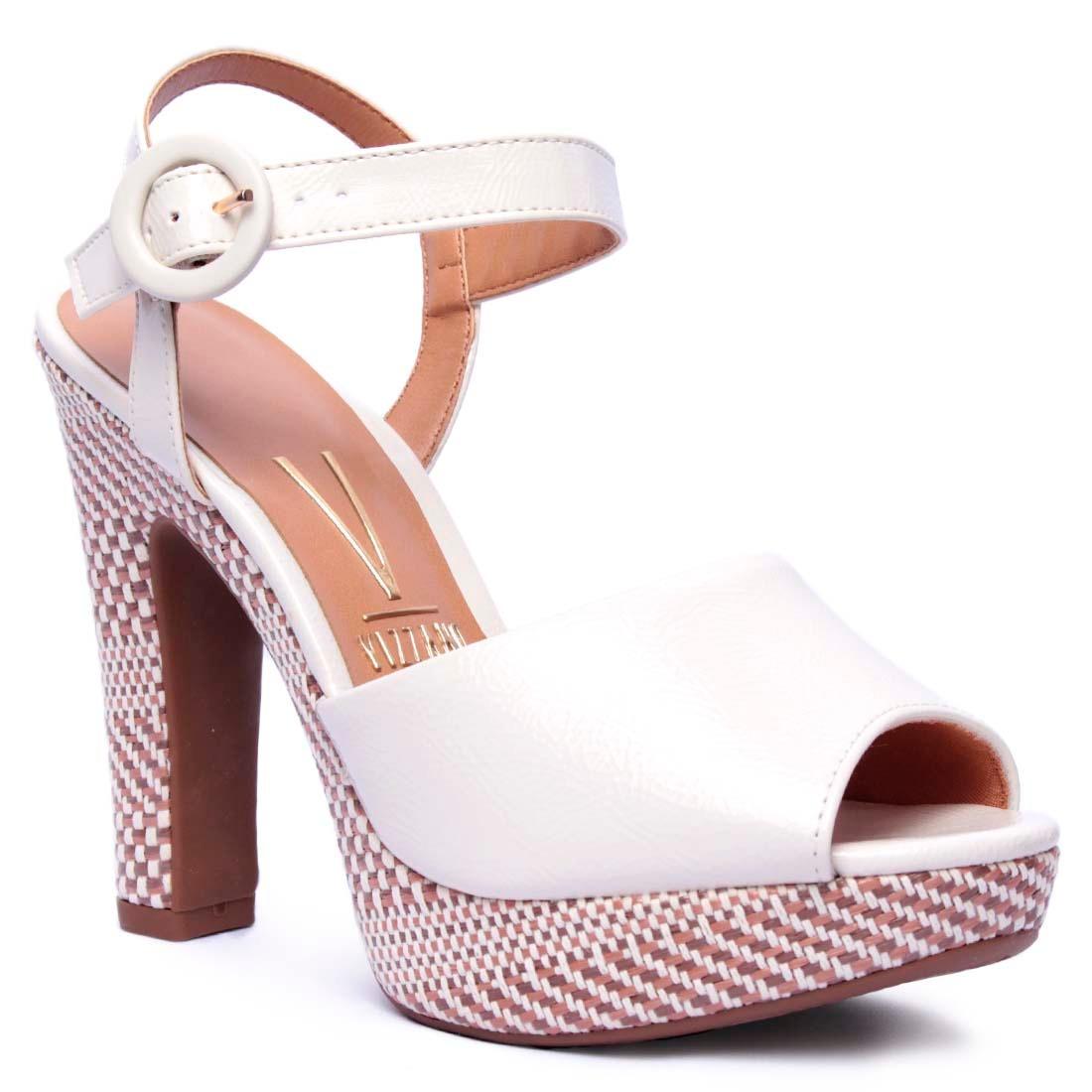 3abbba9671 sandália feminina vizzano meia pata branco off. Carregando zoom.