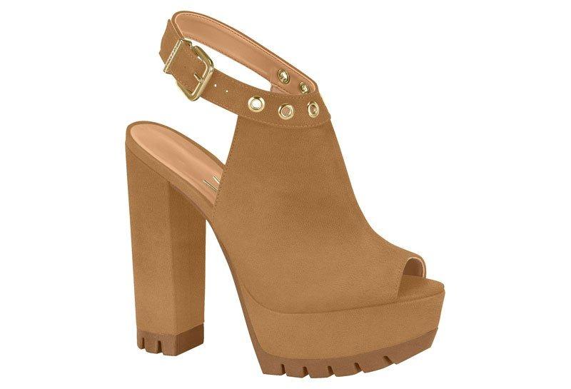 3d4caf27ab sandália feminina vizzano meia pata tratorada camel 6373104. Carregando  zoom.