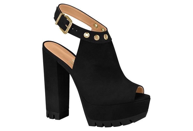 dfa8ce936d sandália feminina vizzano meia pata tratorada preto 6373104. Carregando  zoom.