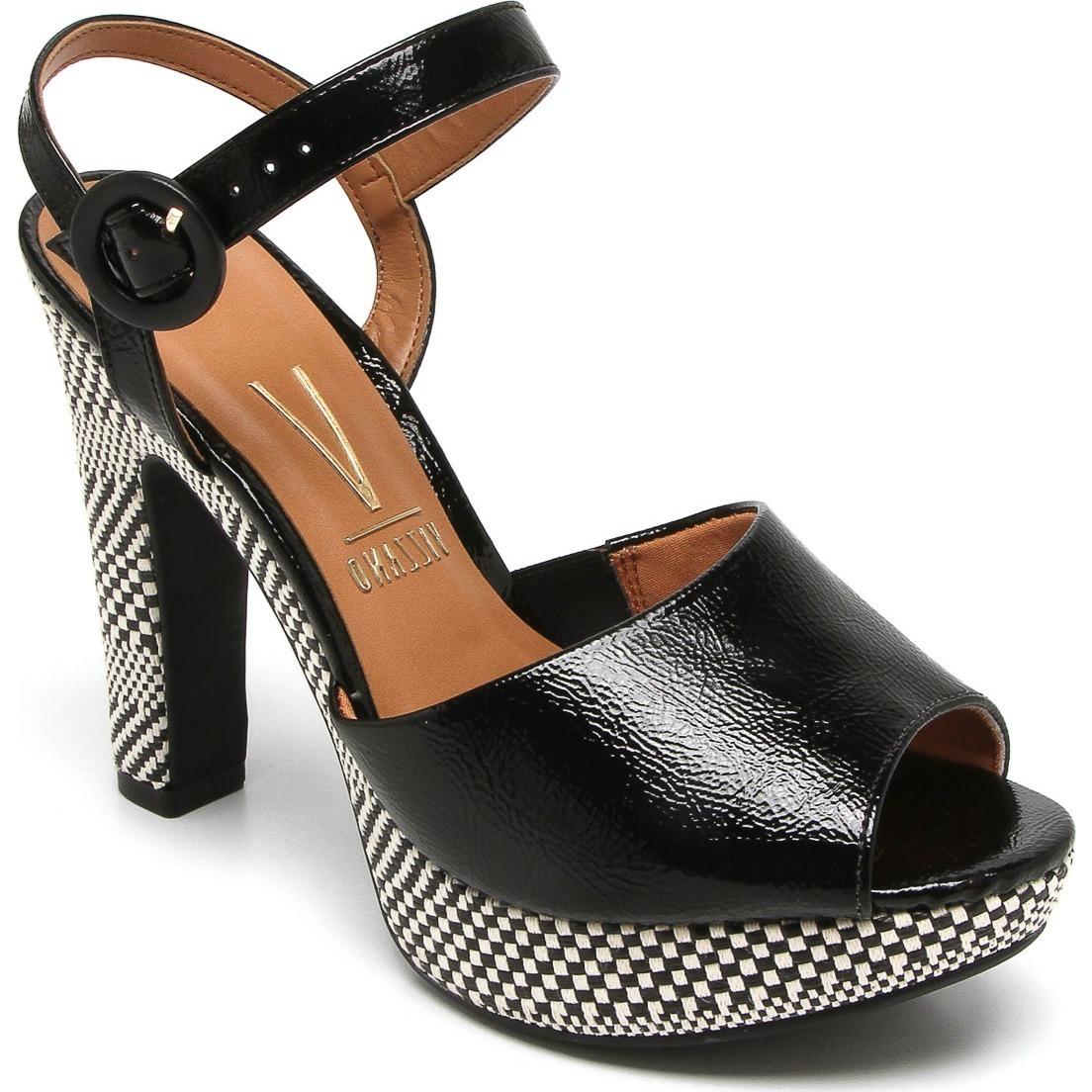 5350ad1904 sandália feminina vizzano meia pata verniz glam 6292123. Carregando zoom.
