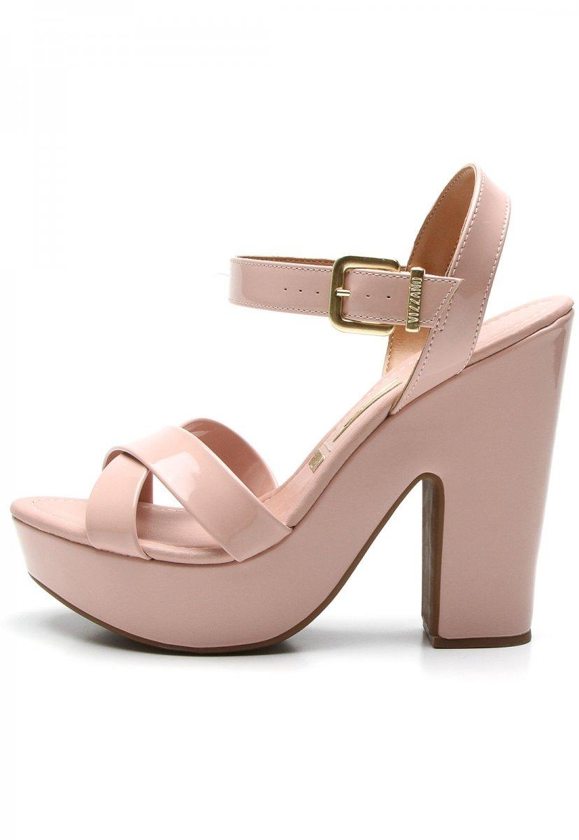 b1d70894c sandália feminina vizzano meia pata verniz rosa 6281127. Carregando zoom.