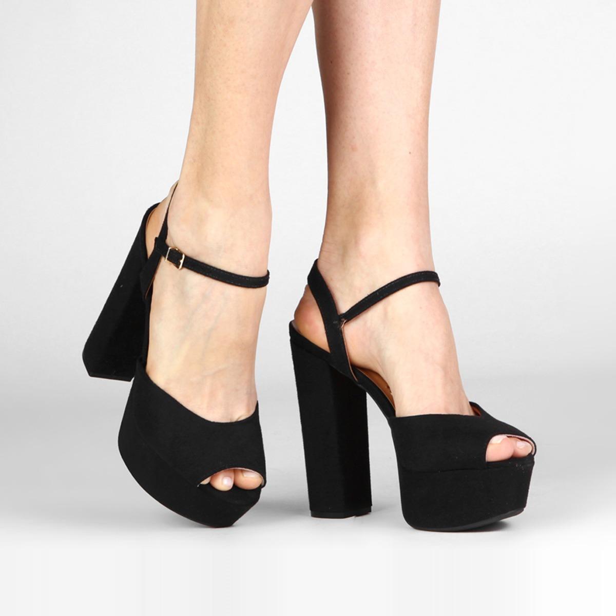 68733d565a sandalia feminina vizzano original salto alto grosso camurça. Carregando  zoom.