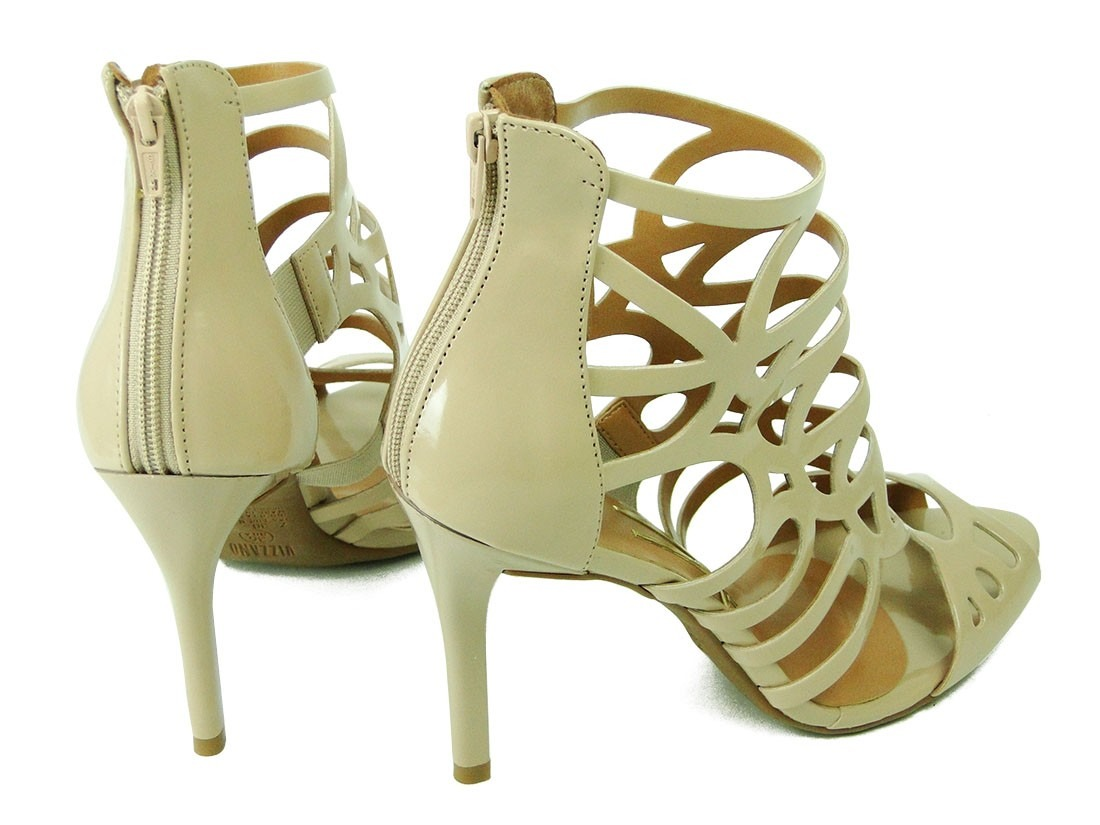 36aa0bb9bd sandália feminina vizzano salto fino nude 6306 tamanho 39. Carregando zoom.