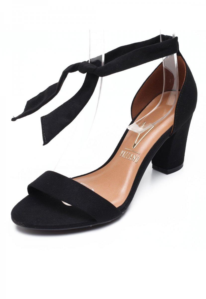 5d85d0719b sandália feminina vizzano salto grosso camurça preto 6262248. Carregando  zoom.