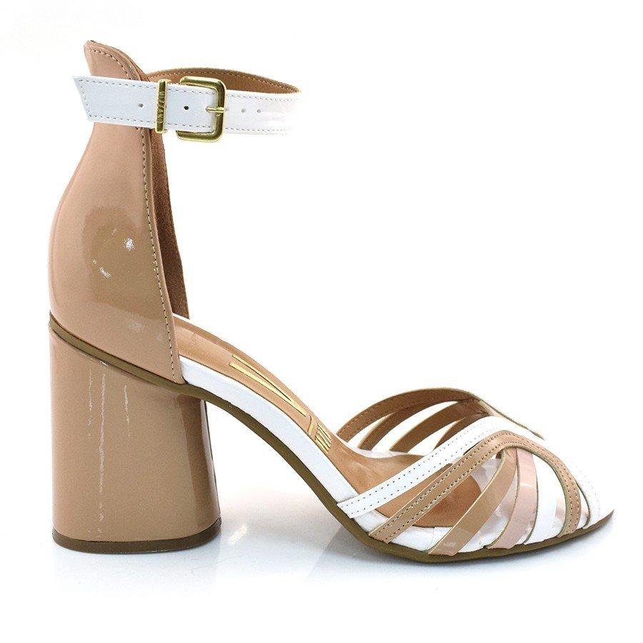 32eacfa4b sandália feminina vizzano salto grosso verniz nude 6366104. Carregando zoom.