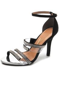 28fd3bcf5d Sandalia Vizzano Preta Com Strass - Sapatos no Mercado Livre Brasil