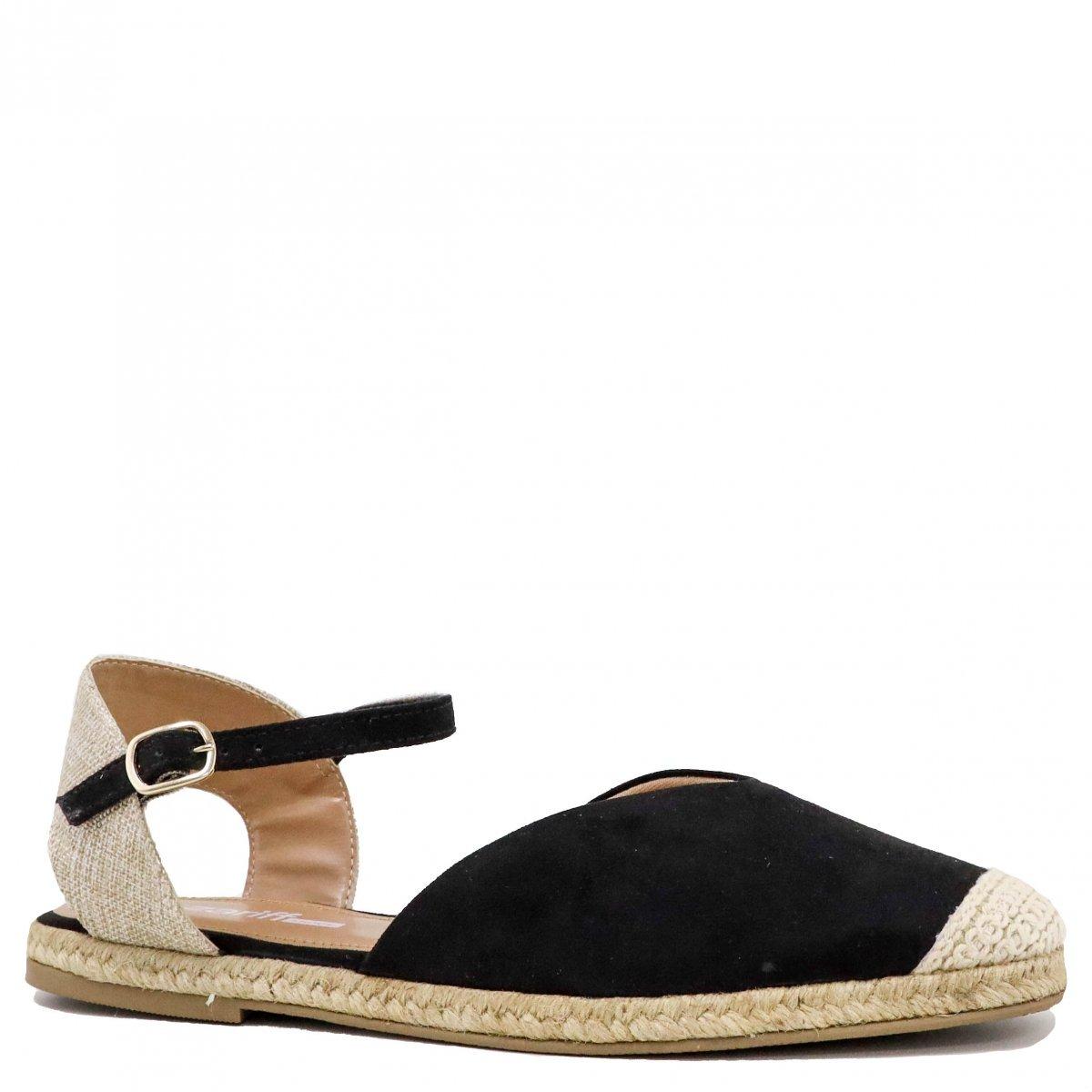 76f3bb9cf Sandália Feminina Zariff Shoes Rasteira Espadrille 810312066 - R  89 ...