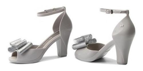 sandália feminina zaxy diva top salto 100% original(melissa)