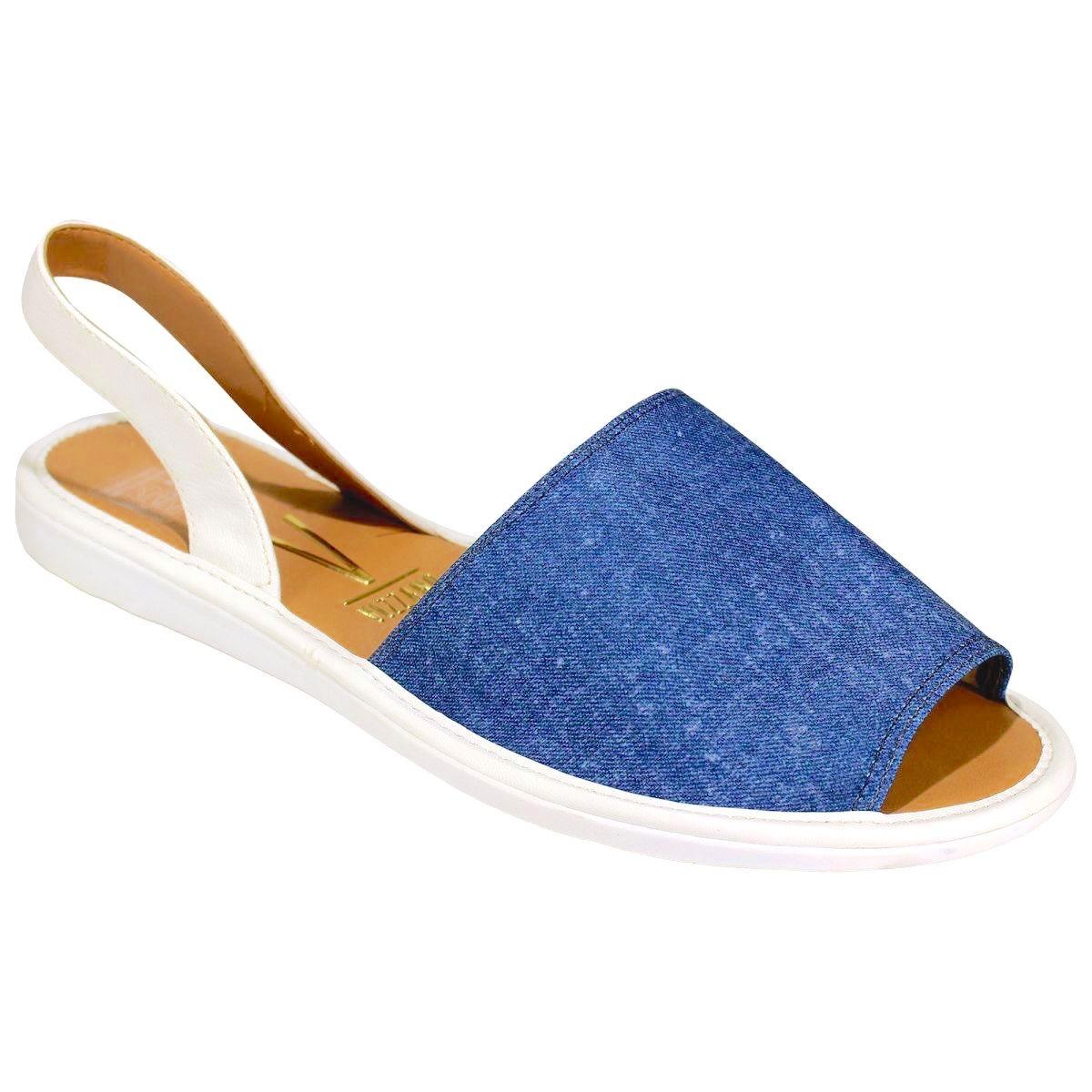 70b0ec00bd sandalia feminino rasteira avarca vizzano jeans 6280 clique+. Carregando  zoom.
