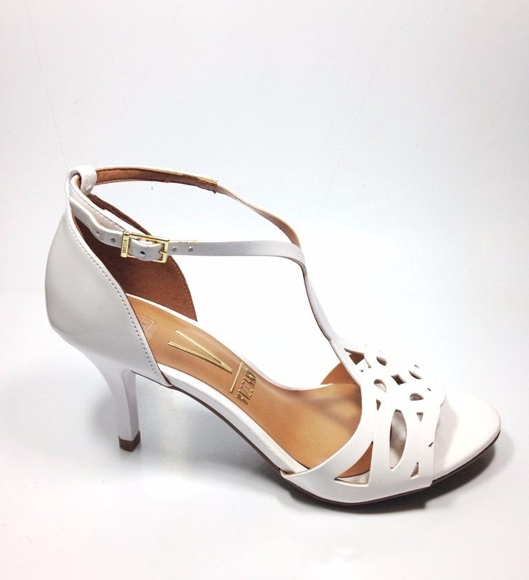 60f2f99bf1 sandália festa salto médio vizzano 6276.105 cor branco. Carregando zoom.