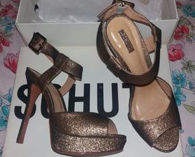 dc5560405 Sapato Salto Dourado Glitter Schutz - Sapatos no Mercado Livre Brasil