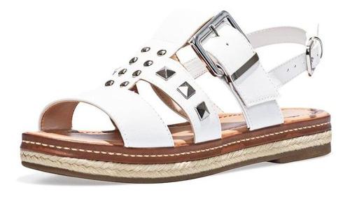 sandália flatform bebecê feminino apliques metais casual