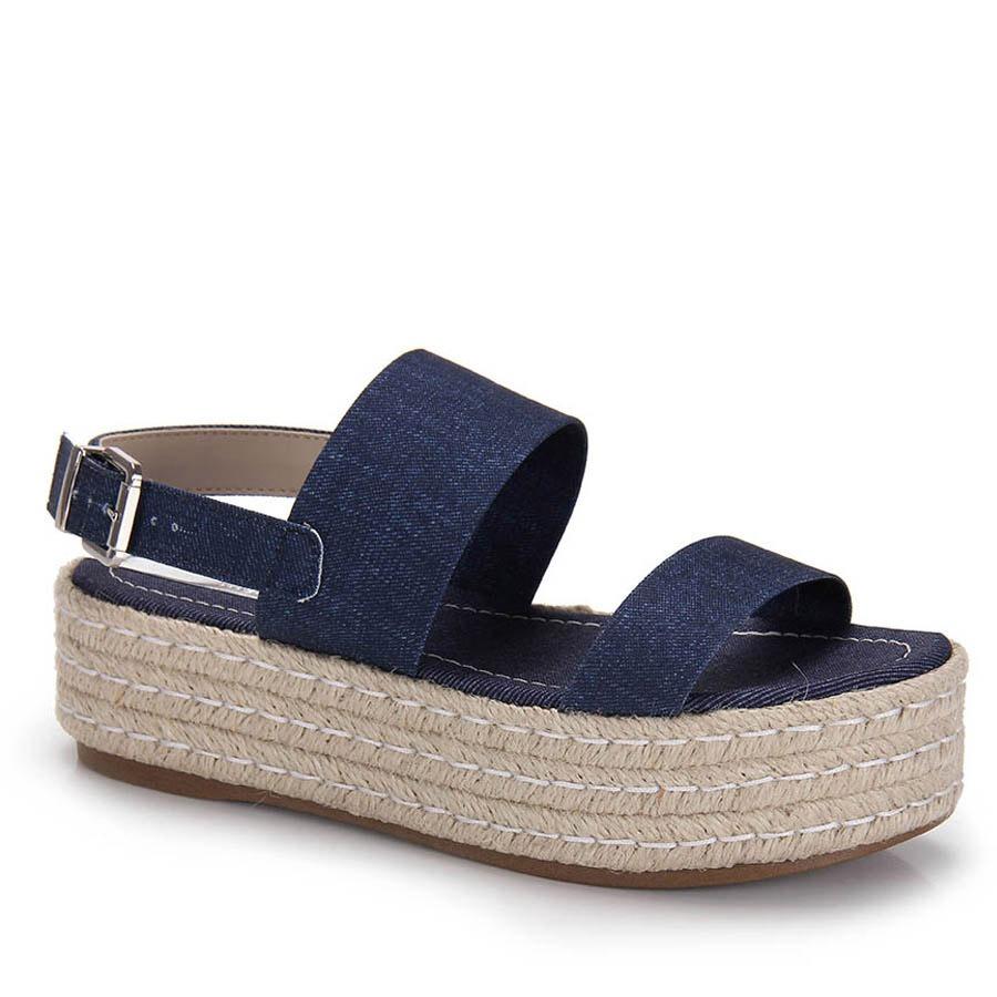 b729df96de sandália flatform espadrille moleca - jeans. Carregando zoom.