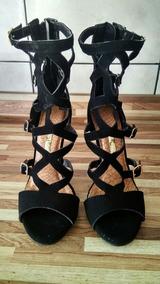 fbb3a570c1 Sandalia Gladiadora Via Marte Salto Feminino - Sapatos no Mercado Livre  Brasil