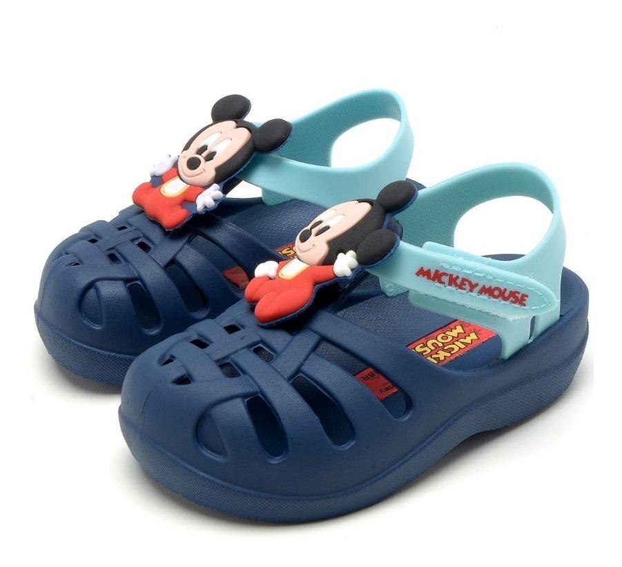 c889b5591134d Sandália Grendene Kids Mickey Soft Babuche - R$ 50,00 em Mercado Livre