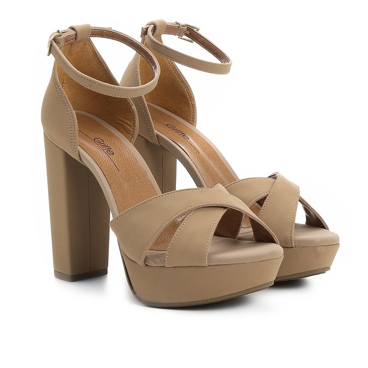 8e3de7f86a sandália griffe salto grosso meia pata feminina. Carregando zoom.